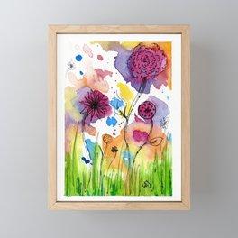 Flower Doodle 4 Framed Mini Art Print