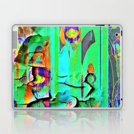 DECORATIVE GREEN SHABBY CHIC PEELING WALLPAPER DESIGN Laptop & iPad Skin