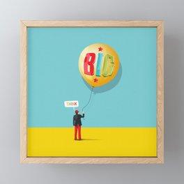 Think Big Framed Mini Art Print