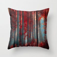 Magical trees Throw Pillow