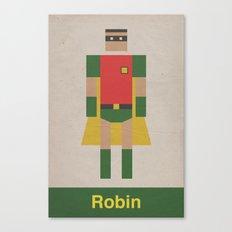 Retro Robin Canvas Print