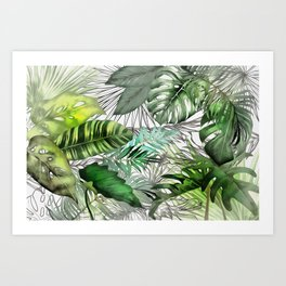 Tropical Foliage 02 Art Print