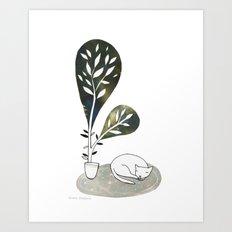 Tiny Cat Art Print