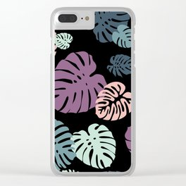 Multicolor Tropical Leaves 23 Clear iPhone Case