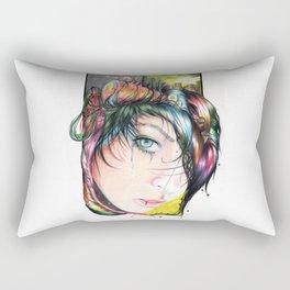 Mind Pollution Rectangular Pillow
