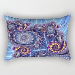 FRACTAL SHELLS PURPLE/YELLOW Rectangular Pillow