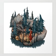 Little Red Riding Hood Art Print