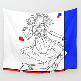 Floating With Colors Wall Tapestry