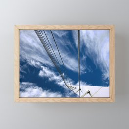 Bridge to sky Framed Mini Art Print
