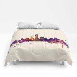 Dallas Texas Skyline Comforters