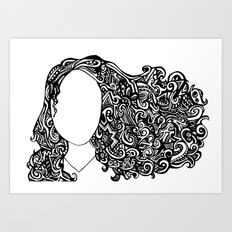 good hair day Art Print