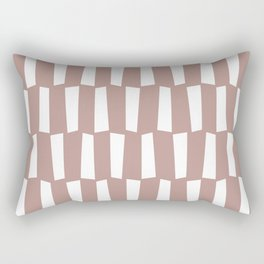 Beige and white abstract shapes pattern Rectangular Pillow