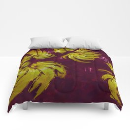 Blood Gold. Abstract Gold by Tito Comforters