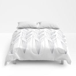 Eternity in Silver Leaf II Comforters