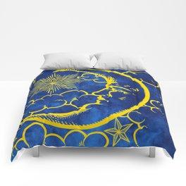 Moon vintage yellow Comforters