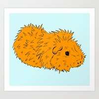 Jeff Guinea Pig Pop! Art Print