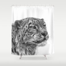 Snow Leopard G095 Shower Curtain