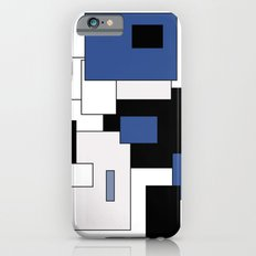 Squares -  gray, blue, black and white. Slim Case iPhone 6s