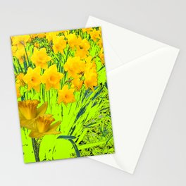 YELLOW SPRING DAFFODILS GARDEN Stationery Cards
