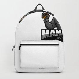 Mandrill Gunner Esport Mascot Logo Design Backpack