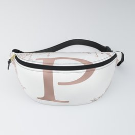 Letter P Rose Gold Pink Initial Monogram Fanny Pack