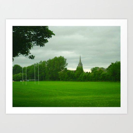 Rugbyfield Art Print