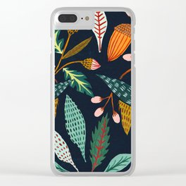Fall Leaves Clear iPhone Case