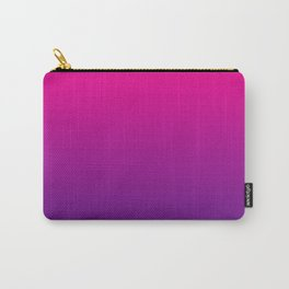 Neon Pink Purple Ultra Violet Pattern Carry-All Pouch