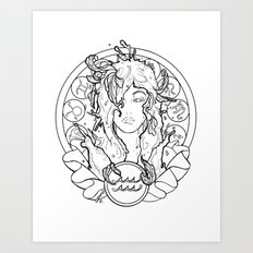 Zodiac Series | Aquarius Art Print
