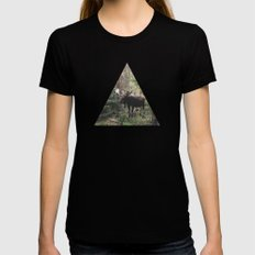 The Modest Moose Black MEDIUM Womens Fitted Tee