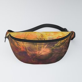 LOVELY FLOWERS ARE KISSING A YELLOW FIELD Fanny Pack
