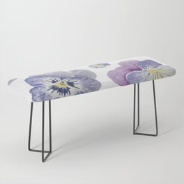 Watercolor Pansy Pattern Bench