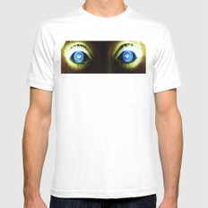 Look into my eyes MEDIUM Mens Fitted Tee White