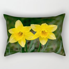 Two daffodils in spring Rectangular Pillow