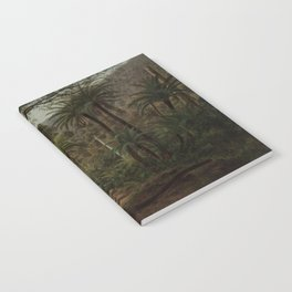 Ferntree and Palms, Tropical Gully landscape portrait by Eugene von Guerard Notebook