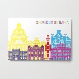 Salvador de bahia skyline pop Metal Print