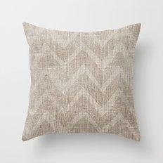 Chevron burlap (Hessian series 1 of 3) Throw Pillow