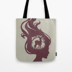 Deer Girl Tote Bag
