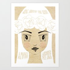 Around the Rosy - Lessons From Mother Goose Series Art Print