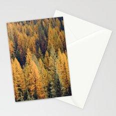 Autumn Tamarack Pine Trees Stationery Cards