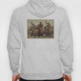 Vintage Finish Line Horse Jockeys Illustration (1891) Hoody