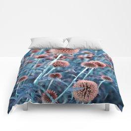 BLUE FLOWERHEADS - Botanical Garden Comforters