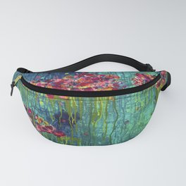 Life in the ocean - Abstract - Floral painting Fanny Pack