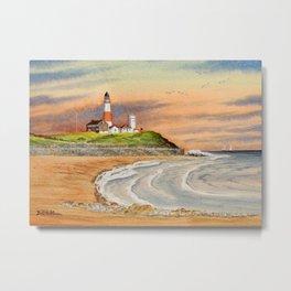 Montauk Point Lighthouse East Hampton New York Metal Print