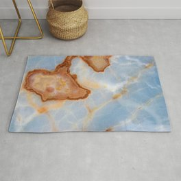 Baby Blue Marble with Rusty Veining Rug