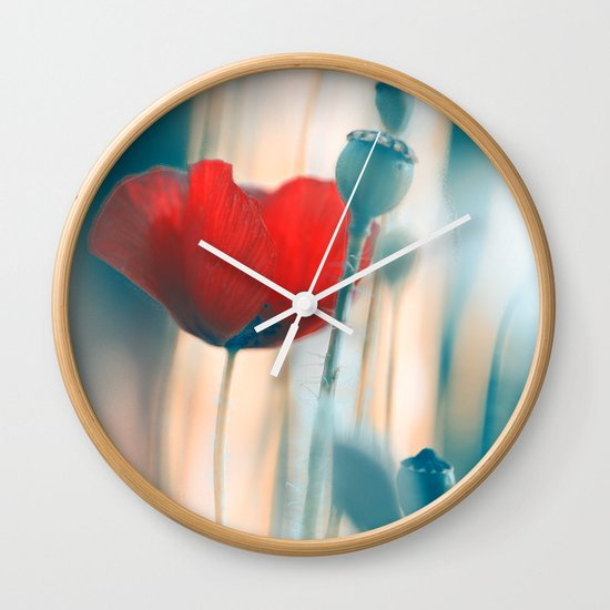 Poppies(radiance). Wall Clock