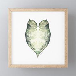 Watercolour Leaf Framed Mini Art Print