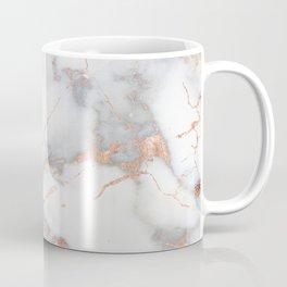 Gray Marble Rosegold  Glitter Pink Metallic Foil Style Coffee Mug