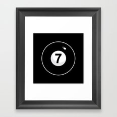 Black Seven Framed Art Print