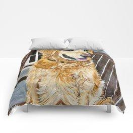 Zildjian Golden Retriever Dog portrait Comforters